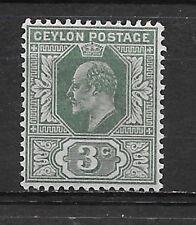 CEYLON , SRI LANKA , EDWARD VII , 1904/05 ,  3p STAMP ,PERF , VLH