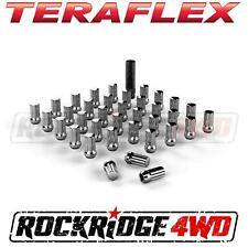 "Teraflex Spline Drive Lug Nut Kit 9/16""x18 Chrome - 36 pcs Jeep JK & JKU w/ Key"
