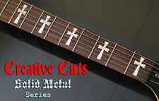Tony Iommi Cross CHROME Fretboard Marker Inlay Decals for G400 or ANY GUITAR