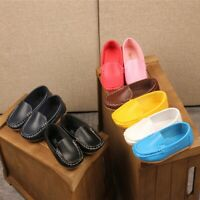 Children Kids Girls Boys Canvas Slip On Leather Flat Loafers Soft Casual Shoes