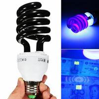 KQ_ 15/20/30/40W 220V E27 Spiral Ultraviolet Fluorescent UV Black Light Lamp Bul