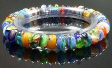 Millefiori Rondelle Bracelet Rainbow Fashion Jewellery