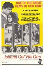 JOHNNY GOT HIS GUN Movie POSTER 27x40 Timothy Bottoms Jason Robards Jr. Donald