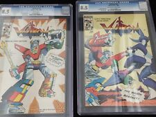 LOT/2 VOLTRON # 1 & 2 1985 CGC 8.5 FURY COVER/MOVIE