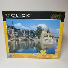 2010 CLICK Boats Reflected Honfleur Normandy 500 Pc Mega Puzzles