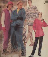 VTG 95 McCALLS 7897 Misses/Mens Jacket Vest Top Pants PATTERN XS-S-M-L-XL UC