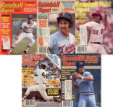 BASEBALL DIGEST 1980 Lot Of 5-Paul Molitor,Steve Carlton, Reggie Jackson Yankees