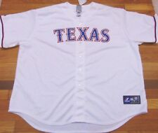 NEW MAJESTIC MLB TEXAS RANGERS HOME WHITE JERSEY SIZE 4XL