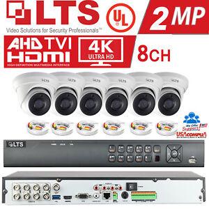 LTS SECURITY CAMERAS SYSTEM 6 TURRET KIT WDR/HD-TVI /  2TB HARD DISK / IP67