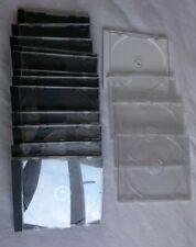 16 x CD DVD Blu Ray single Jewel cases black clear white