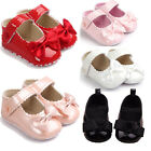 Toddler Baby Girl Bowknot Crib Shoes Newborn Prewalker Non-slip Kids Soft Sole