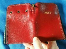 Vintage red leather keys holder