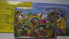 2014 Ukraine, Annual Mint Set of 8 coins: 6 Kopecks, 1 Hryvna, 1 Mint Token, UNC
