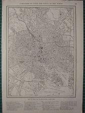 1926 MAP ~ BALTIMORE MARYLAND CITY PLAN BASIN RAILWAY CEMETERY SCHOOLS
