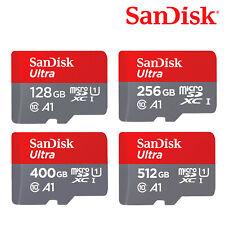 SanDisk Ultra 128GB 256GB 400GB 512GB A1 MicroSDXC Card UHS-I C10 + SD Adapter