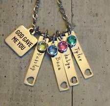 Child's Name Birthstone 4 bar Custom Personalized Mother's Day gift Necklace