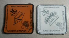 "Two 3"" Scouts Canada Sioux District Sports & Leisure Show Patches"