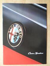 ALFA ROMEO CUORE SPORTIVO 155 BTCC & 164 mercato britannico opuscolo