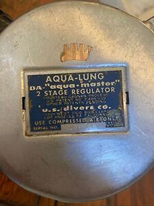 "AQUA LUNG DA ""Aqua-Master"" 2 Stage Regulator Double Hose US divers Scuba Vintage"
