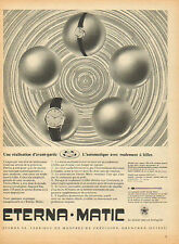 Publicité Advertising 1950 --  montre ETERNA MATIC  ....... horlogerie Print AD