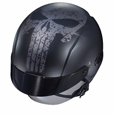 HJC IS-CRUISER  THE PUNISHER  MARVEL HALF MOTORCYCLE HELMET X-LARGE