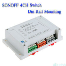 Sonoff 4CH ITEAD 4Channel Din Rail Mounting WiFI Switch Wireless Smart Switch WQ