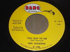 Neil Diamond: You Got To Me / Someday Baby 45