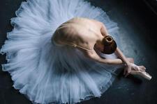 Ballerina Training Beautiful Back Ballet Swan Lake Oil Painting Original Signed