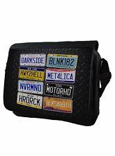 Rock Numberplate Genuine Darkside Messenger Bag Laptop Bag School Bag