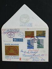 SC4 PORTUGAL Aangetekende brief Salazar brug met adres onbekend stempels