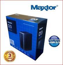 "HARD DISK ESTERNO 3,5"" MAXTOR D3 STATION 4 TB 4TB USB 3.0 COMPATIBILE USB 2.0"
