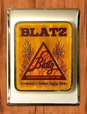 "TIN-UPS TIN SIGN ""Blatz Beer"" Vintage Ad Retro Garage Bar Beer Alcohol"