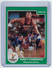 1984-85 BUCKS Terry Cummings signed card Star Co #3 AUTO Autographed Milwaukee