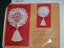 Vtg 1984 Valentine Beads Cross Stitch Holiday Ornaments Kit Creative Circle #lk3