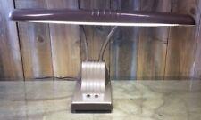 Dazor Model 1000 Double Gooseneck Desk Lamp Vintage Industrial Metal Fluorescent