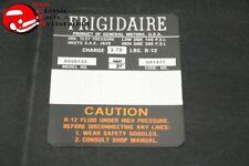 67 IMPALA, GMC/CHEVY TRUCK FRIGIDAIRE COMPRESSOR DECAL GM#6550133