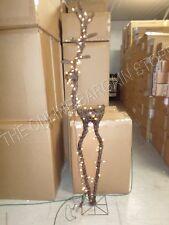 Frontgate Grandinroad Christmas Wicker Lighted Reindeer Prancer Outdoor Decor 6'