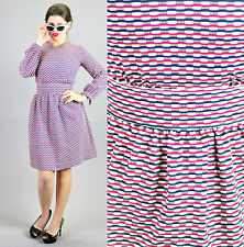 Z91 VTG 60s MOD GOGO Scooter Space Age TWIGGY Dolly Poly dress S  ABSTRACT!