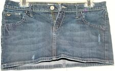 Hollister Mini Distress Denim skirt Size 9!
