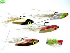 """Salmon Flies 1 1/2"""" Salmon Spinner/Spoon Fly Fishing Lures Set No.2"""