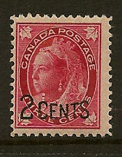CANADA : 1899 2 Cents on 3c carmine  SG171 mint
