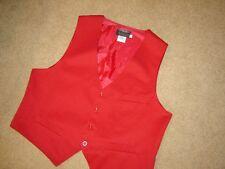 Sherlock Holmes steampunk suit vest  red blend red  lining  XXL46 C