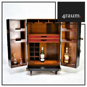 Authentic Models Polo Club BAR Black Whiskey Wardrobe Cabinet Wine Rack Vintage