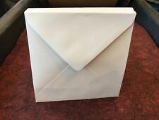 50 Pack    140mm X 140mm Square White Envelopes 14cm X 14cm Diamond Flap 100gsm