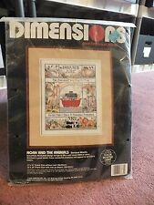 """Dimensions Counted Cross Stitch Kit """"Noah & Animals"""" 11x14"""" Unopened CUTE"""