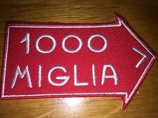 1000 MILLE MIGLIA ARROW RALLY FERRARI LOTUS FIAT ITALY RACING PATCH