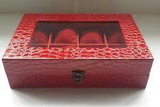 watchbox organizer 8 slots croco red