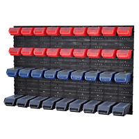 Stapelboxen Werkzeugwand 36 Boxen Montagewand 3 Farben