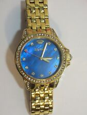 """Juicy Couture Blue MOP & Gold Stainless Steel Watch - 6"""""""