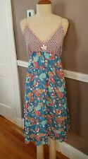 Amazing Multicolor Floral Silk Blend Sleeveless Dress By Yellowfield!! Size 8!!